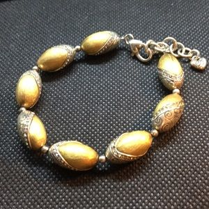 Brighton Bracelet Gold & Silver tone beads